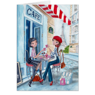 Tea in Paris - greeting cards