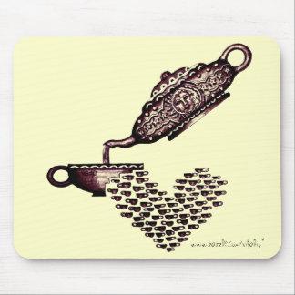 Tea kettle abstract graphic art cool mousepad