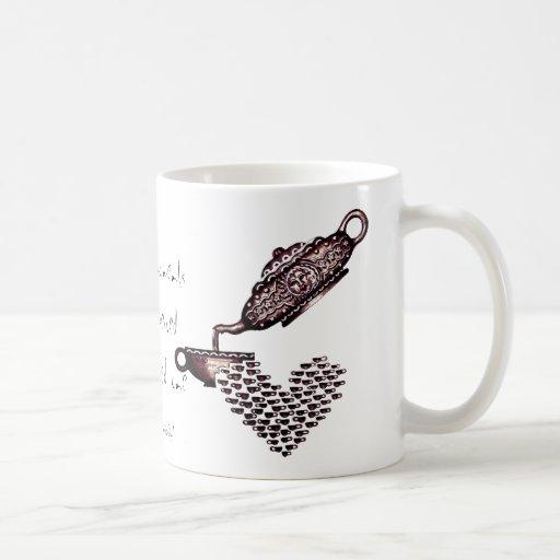 Tea kettle abstract graphic art mug for loving