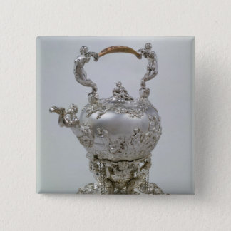 Tea kettle and stand by C.Kandler, London, 1730 15 Cm Square Badge
