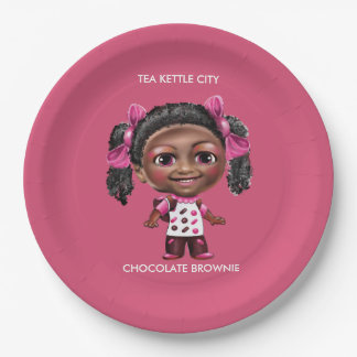 TEA KETTLE CITY 9 INCH PAPER PLATE