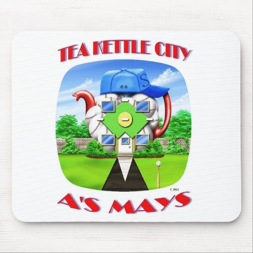 TEA KETTLE CITY MOUSE PAD