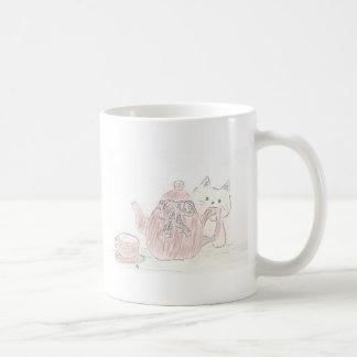 Tea Kettle Kitten Basic White Mug