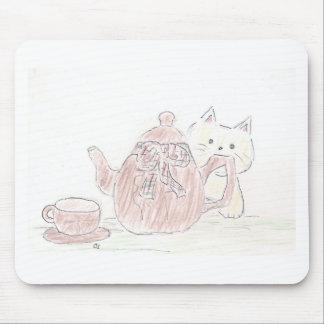 Tea Kettle Kitten Mouse Pads
