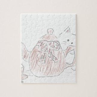 Tea Kettle Kitten Jigsaw Puzzles