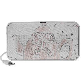 Tea Kettle Kitten Travel Speaker