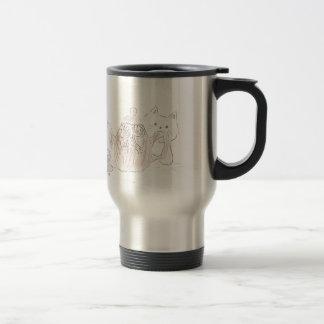 Tea Kettle Kitten Stainless Steel Travel Mug