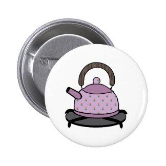 Tea Kettle Pinback Button