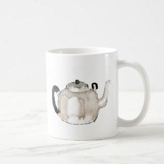 Tea Kettle Water Colour Basic White Mug