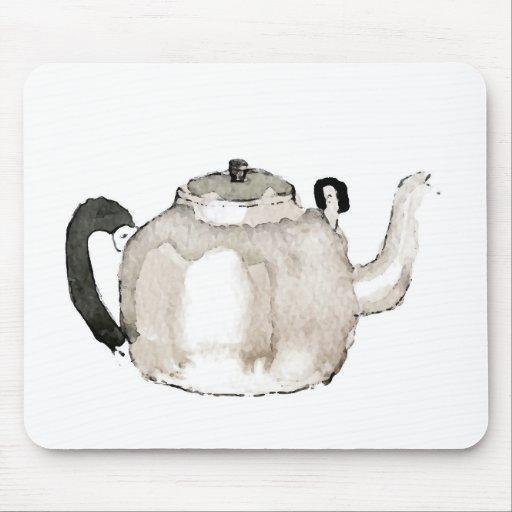 Tea Kettle Water Colour Mouse Pads