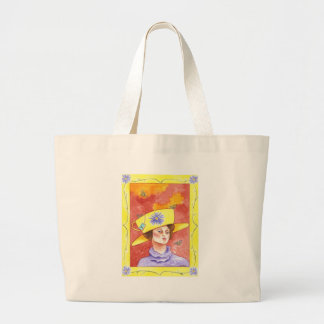 Tea Lady with Bees Canvas Bag