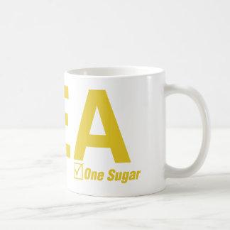 Tea, lemon, one sugar coffee mug