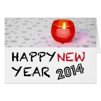 Tea Light Candle Happy New Year 2014 Card