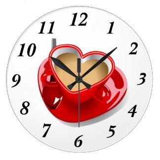 Tea Love Large Clock