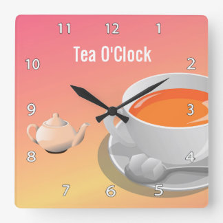 Tea Lovers Wall Clock