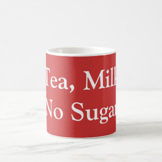 Tea, Milk, No Sugar Basic White Mug