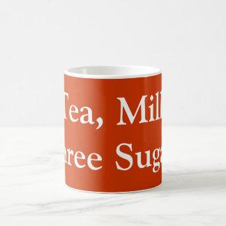 Tea, Milk, Three Sugars Coffee Mug