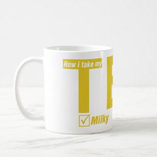 Tea, Milky, 2 sugars Basic White Mug
