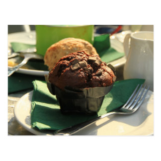 Tea Muffin Snacks Postcard