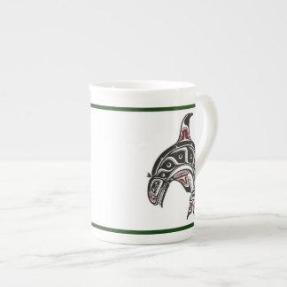 Tea mug with tribal späckhuggare