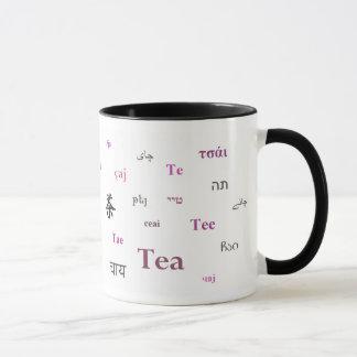 Tea of the World Mug (in pink/magenta)