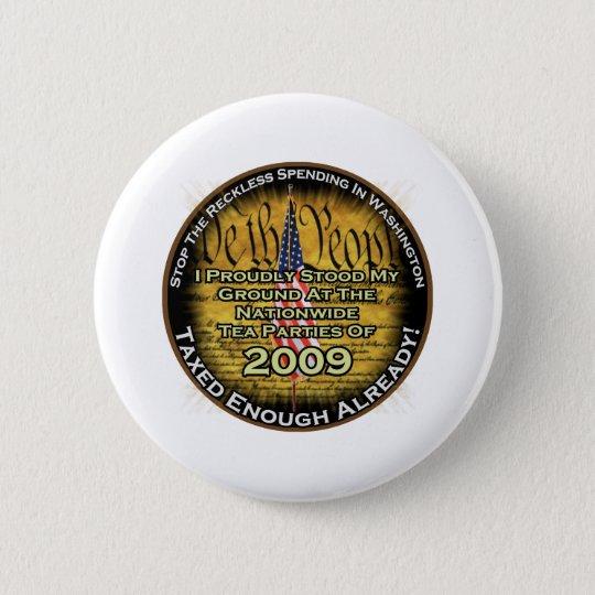 Tea party 2009 6 cm round badge