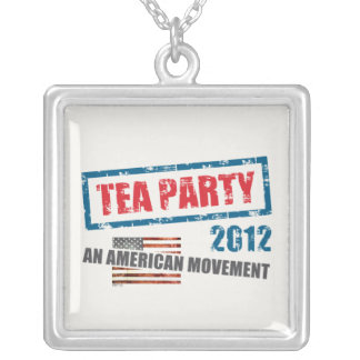 Tea Party 2012 Square Pendant Necklace