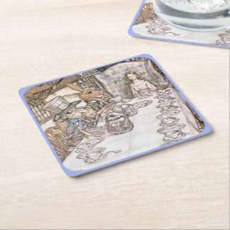 Tea Party 6 Square Paper Coaster