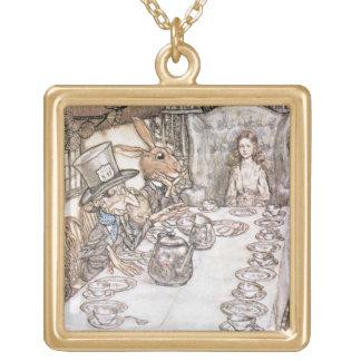 Tea Party 6 Square Pendant Necklace