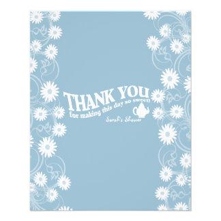 Tea Party and Daisy Blue Chocolate Bar Favor 11.5 Cm X 14 Cm Flyer