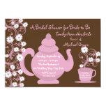 Tea Party and Daisy Bridal Shower Custom Invite