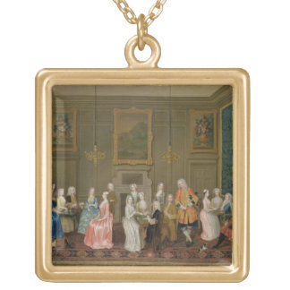 Tea Party at Lord Harrington's House, St. James's Gold Plated Necklace