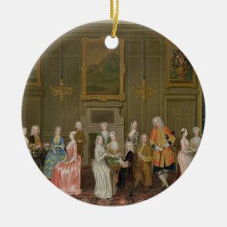 Tea Party at Lord Harrington's House, St. James's Round Ceramic Decoration