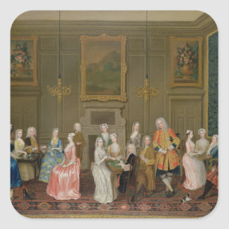 Tea Party at Lord Harrington's House, St. James's Square Sticker