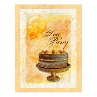 """Tea party"" bakery birthday celebration invitation Postcards"