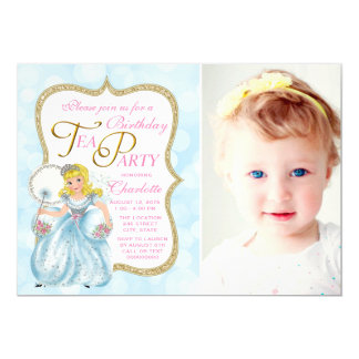 Tea Party Birthday Party 13 Cm X 18 Cm Invitation Card