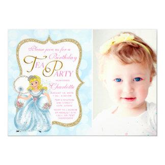 Tea Party Birthday Party 13 Cm X 18 Cm Invitation Card