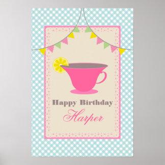 Tea Party Birthday Poster