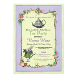 Tea Party Bridal Shower Alice in Wonderland Invite