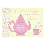Tea Party Bridal Shower and recipe cards 13 Cm X 18 Cm Invitation Card