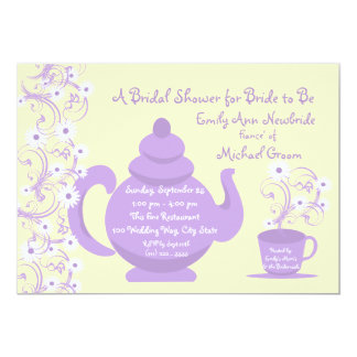Tea Party Bridal Shower with recipe card