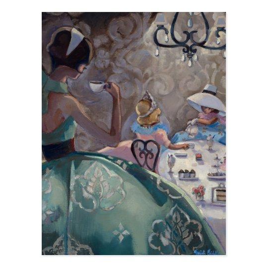 Tea Party by Trish Biddle Postcard