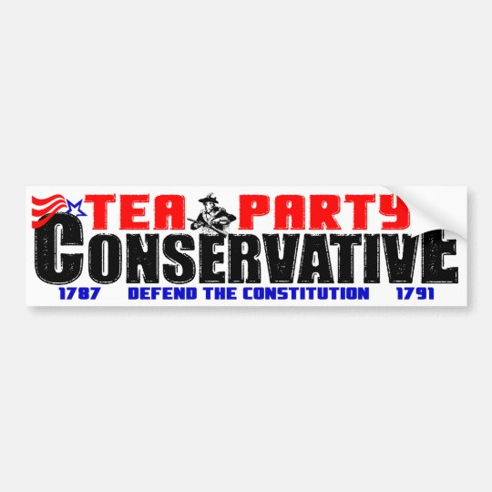 Tea Party Conservative Bumper Sticker