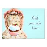 Tea Party Cupcake Victorian Invitation 13 Cm X 18 Cm Invitation Card