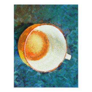 Tea party done 11 cm x 14 cm invitation card
