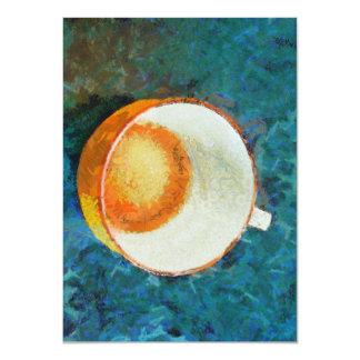 Tea party done 11 cm x 16 cm invitation card
