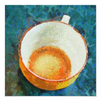 Tea party done 13 cm x 13 cm square invitation card
