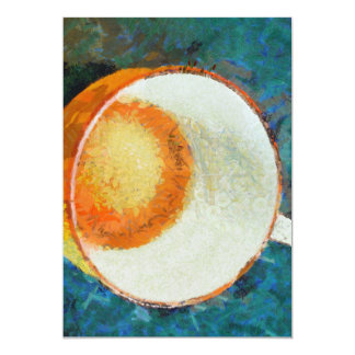 Tea party done 13 cm x 18 cm invitation card