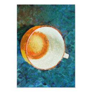 Tea party done 9 cm x 13 cm invitation card