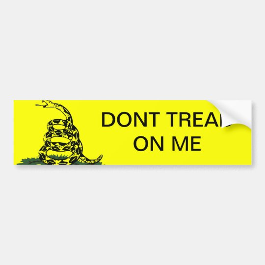 Tea Party Dont Tread On Me Bumper Sticker